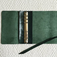 Leather Planner Organizer cowhide leather filofax style daily planner 6-ring binder