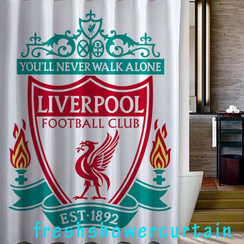 You'll Never Walk Alone Liverpool Shower Curtain