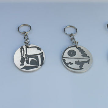 Star Wars Characters  inspired Metal Etched Aluminum Handmade Keychain