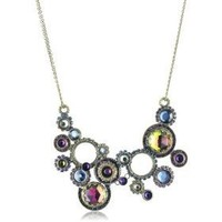 "Sorrelli ""Aurora Sky"" Multi Crystal Circular Gold-Tone Bib Necklace - Free Overnight Shipping on New Styles, Free Return Shipping: endless.com"