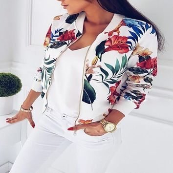 Floral Bomber Jackets Womens