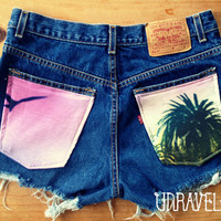 High Waist Shorts Levis Size MEDIUM to LARGE by UnraveledClothing