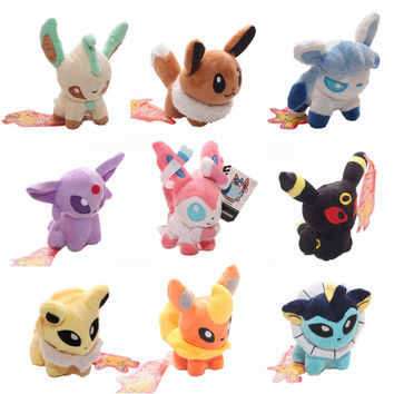 "Pokemon Go Plush Toy 5"" Umbreon Eevee Espeon Jolteon Vaporeon Flareon Glaceon Leafeon Sylveon Stuffed Plush Toys Doll for Kids"