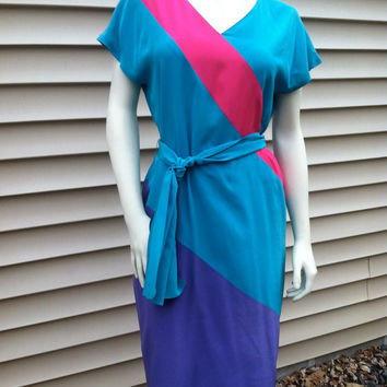 Color Block Francesca of DAMON Silk Dress