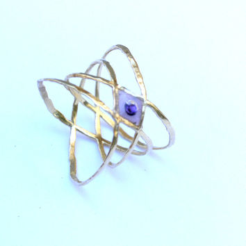 Double x ring. Criss cross ring. X ring. Eye ring. Evil eye ring. Dainty ring. Contemporary ring. Jewelry with meaning.