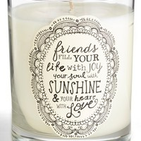 Natural Life 'Friends Fill Your Life with Joy' Candle - White