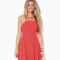 AE Cutout Sundress, Cherry Pop | American Eagle Outfitters