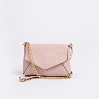Cecilia Dusty Rose Gold Chain Bag