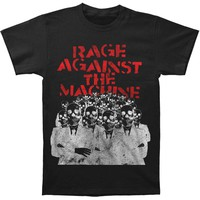 Rage Against The Machine Men's  Skeleton Heads Slim Fit T-shirt Black