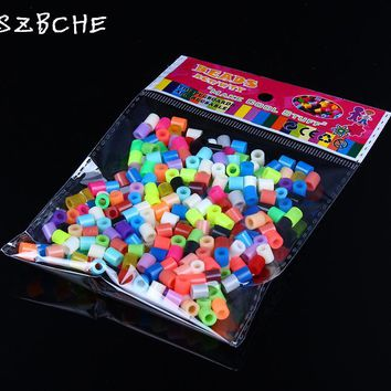 2016 Hot popular 5 mm Bright DIY beaded bags Hama EVA300 member Perler beads children gifts, fashion puzzles