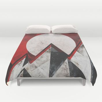 Mount kamikaze Duvet Cover by HappyMelvin