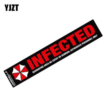 YJZT 22.7x4CM UMBRELLA Funny Car Sticker Infected Resident Evil Retro-reflective Decals C1-8015