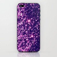 Purple Magenta Sparkle Blur iPhone & iPod Skin by RexLambo | Society6