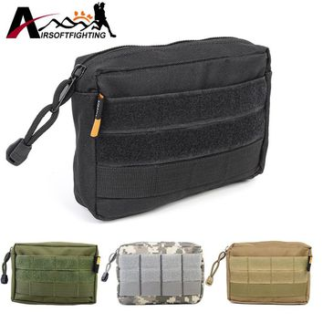 Tactical Outdoor Sports Molle Bag 600D Airsoft Military Paintball Utility EDC Vest First Aid Drop Pouch Bag Magazine Pouch#