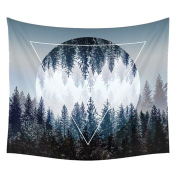 Forest Reflection Wall Art Tapestry