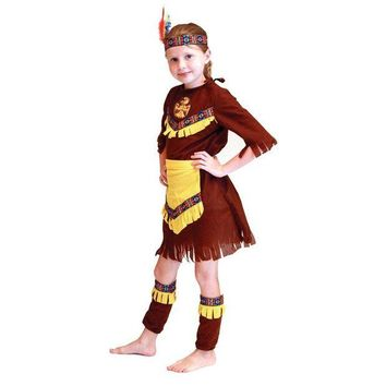 DCCKH6B 2016 Superior quality primitive man Costume Wild West Child Boys Girls Indian Cowboy Halloween Fancy Dress cospaly clothing C062