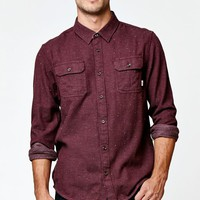 Vans Terrell Flannel Long Sleeve Button Up Shirt - Mens Shirts - Maroon