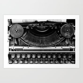 Typewriter Art Print by Mixed Imagery