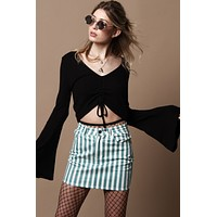 BB Dakota Leia Ruched Crop Top - Black