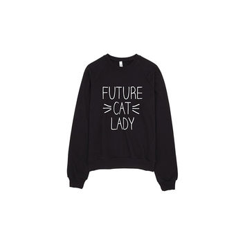Future Cat Lady Whiskers Meow Sweater