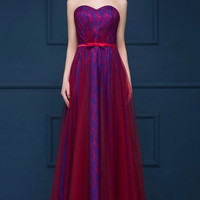 Strapless Tulle Column Ball Dress