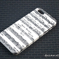 IPHONE 5 CASE MUSIC Note Chart Paper Pattern Song Melody lyrics