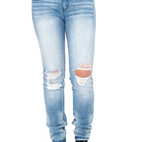 LOW RISE RIPPED BLEACHED SKINNY JEAN - STYLE STEALS