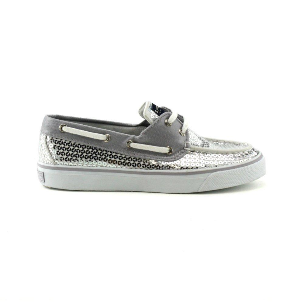 Sperry Top Sider Silver Sequin Shoes