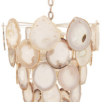 Bebe Agate Chandelier (Gray & White Agate)