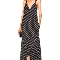 Haider Ackermann Striped Camisole Dress in Black | FWRD