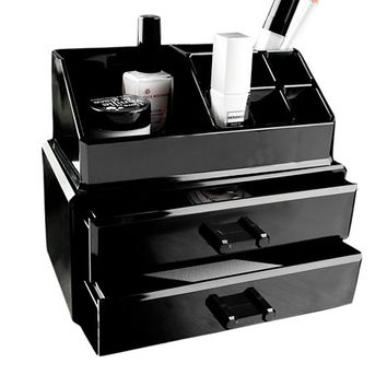 Box With 2 Drawers, Cosmetic Organizer