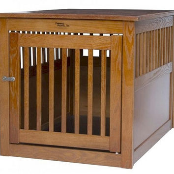 End Table Pet Crate - Large/Artisan Bronze