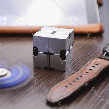 Creative Uncompression Decompression Toys Unlimited Cube Infinity Cube Adult Puzzle Squares Play EDC Outdoor Pocket Tool