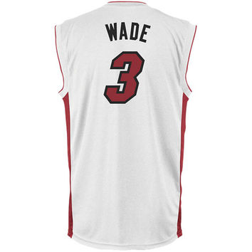 Mens Miami Heat Dwyane Wade adidas White Replica Home Jersey