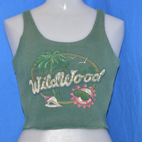 90s Wildwood New Jersey Cropped Tank Top t-shirt Women's Small