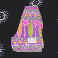 Neon Retro Baggy Hawaii Board Shorts