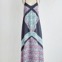 Boho Long Sleeveless Maxi Lookout and About Dress by ModCloth
