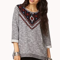 Embroidered Southwestern Sweatshirt