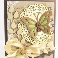 OOAK CARD, Handmade Card, Butterfly Card, XOXO Card, Amy Occasion card, Greeting Card