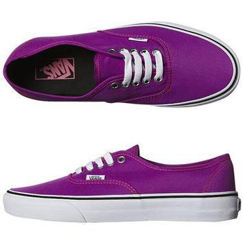SURFSTITCH - FOOTWEAR - WOMENS FOOTWEAR - SNEAKERS - VANS WOMENS AUTHENTIC SHOE - NEON