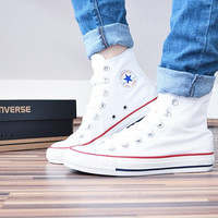 """Converse"" Fashion Canvas Flats Sneakers Sport Shoes White high-tops"