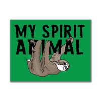 Sloth My Spirit Animal 3x4in. Rectangular Decal Sticker