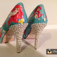 Little Mermaid heels with Pearls and Shells