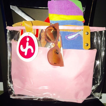 """""""Clear The Way"""" Tote Bag With Matching Pouch"""