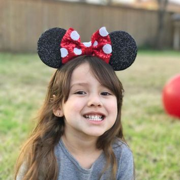 Children Minnie Mouse Ears Hairbands