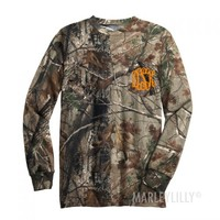 Monogrammed Long Sleeve Camo T-Shirt | Marley Lilly