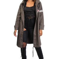 Patched Trench Coat