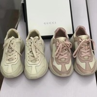GUCCI Women Trending Fashion Embroidery printing Casual Sneakers Sports Shoes Luminous