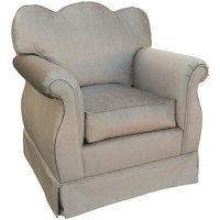 Angel Song 201721156Foam Aspen Silver Adult Empire Glider Rocker