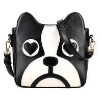 Cute Dog Head Shape Shoulder Bag - OASAP.com